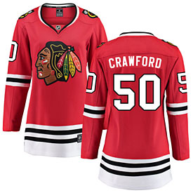 Chicago Blackhawks Corey Crawford Ladies Home Breakaway Jersey w/ Authentic Lettering