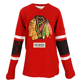 Chicago Blackhawks Youth CCM Logo Red Long Sleeve T-Shirt