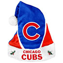 Chicago Cubs Color Block Santa Hat