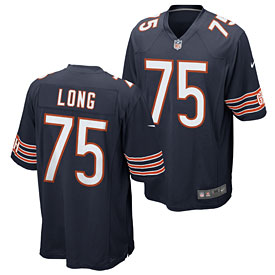 best service 717e0 1dbb9 Chicago Bears Kyle Long Game Team Color Jersey
