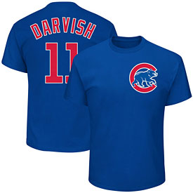 Chicago Cubs Yu Darvish Name and Number T-Shirt