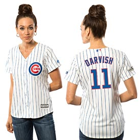 Chicago Cubs Yu Darvish Ladies Home Cool Base Replica Jersey