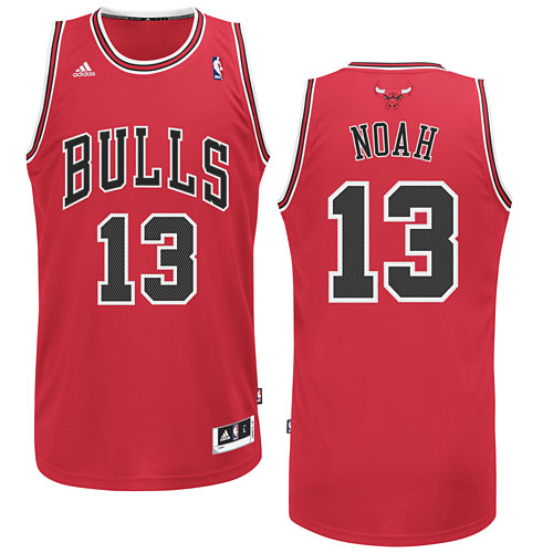 ec2c30b62 Chicago Bulls Joakim Noah Red Swingman Jersey