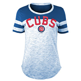 Chicago Cubs Ladies Space Dyed Scoop Neck T-Shirt