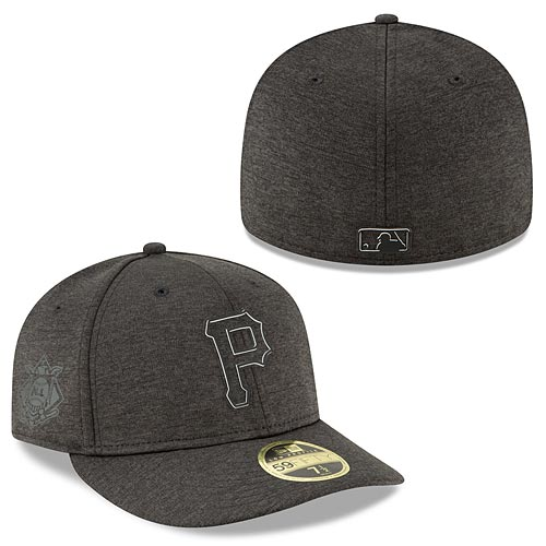 san francisco bf498 a08f2 Pittsburgh Pirates Heather Black 2018 Clubhouse Collection Low Profile 59FIFTY  Fitted Cap