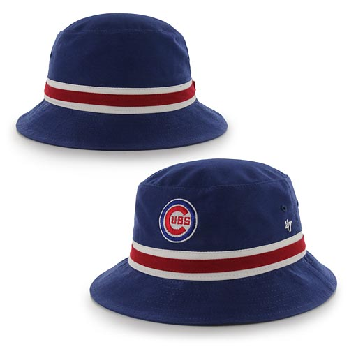 b8a6a089a59 Chicago Cubs Striped Bucket Hat