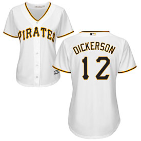 Pittsburgh Pirates Corey Dickerson Ladies Home Cool Base Replica Jersey