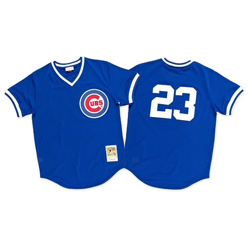 new arrival 6aeb3 88140 Chicago Cubs Ryne Sandberg 1984 Batting Practice Jersey