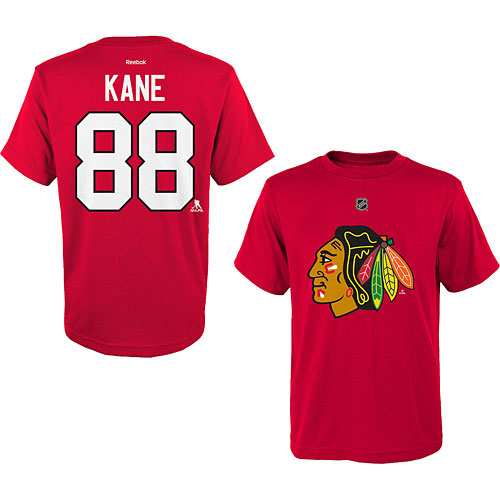 48a38a7f34d Chicago Blackhawks Patrick Kane Youth Name and Number T-Shirt