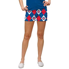Chicago Cubs Ladies Argyle Mini Shorts