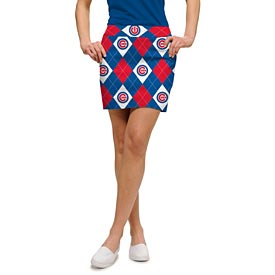 Chicago Cubs Ladies Argyle Skort