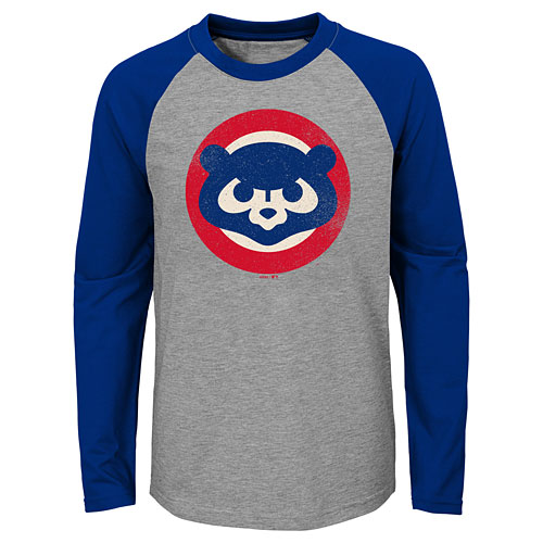 b2841f12e8b Chicago Cubs Youth Glory Days Raglan Tri-Blend Long Sleeve T-Shirt