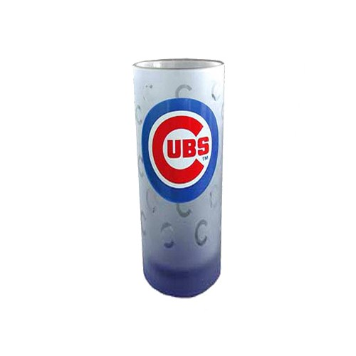 Chicago Cubs Etched Glass Shooter Glass