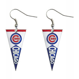 Chicago Cubs Pennant Dangle Earrings