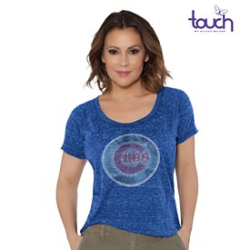 Chicago Cubs Ladies Touch Outfielder Rhinestone T-Shirt