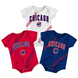 Chicago Cubs Newborn Fantastic Creeper Set