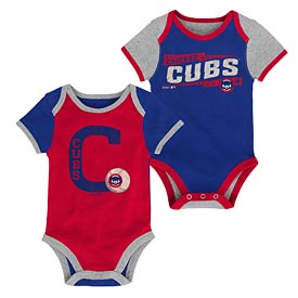 Chicago Cubs Newborn Baseball Star Cooperstown Creeper Set