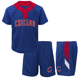 Chicago Cubs Infant Ground Rules T-Shirt & Shorts Set