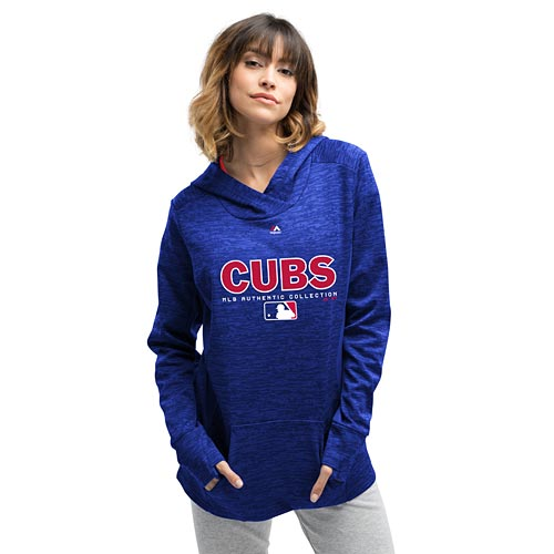 buy online 1ef73 7e980 Chicago Cubs Ladies Authentic Team Drive Hooded Sweatshirt