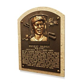 Chicago Cubs Ernie Banks Hall of Fame Replica Plaque