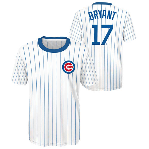 huge selection of a2cf7 4f1f0 Chicago Cubs Kris Bryant Youth Sublimated Jersey T-Shirt