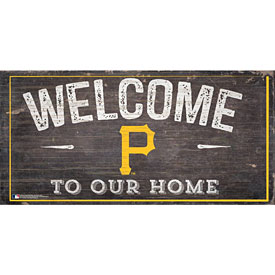 Pittsburgh Pirates Distressed Welcome To Our Home Wood Sign