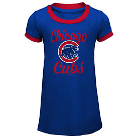 Chicago Cubs Infant Girls Baseline Tri-Blend Dress