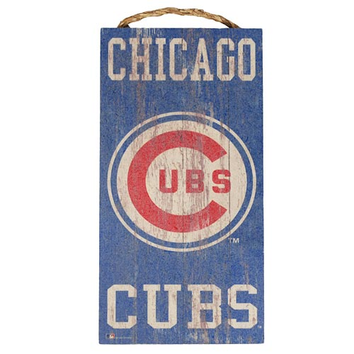 Chicago Cubs Heritage Logo Wood Wall Sign