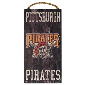 Pittsburgh Pirates Heritage Logo Wood Wall Sign