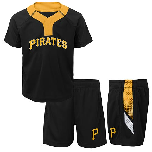 buy popular af617 d3961 Pittsburgh Pirates Toddler Ground Rules Short and Jersey Set