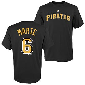Pittsburgh Pirates Starling Marte Pre School Name and Number T-Shirt
