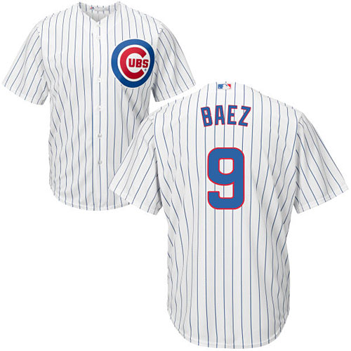 buy popular 20bb7 60ee4 Chicago Cubs Javier Baez Youth Home Cool Base Replica Jersey