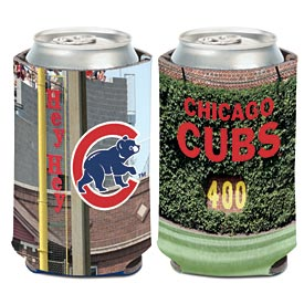 Chicago Cubs Wrigley Ivy & Foul Pole Can Cooler