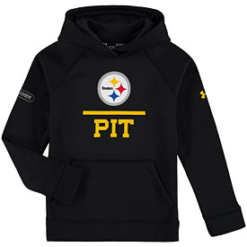 Pittsburgh Steelers Youth Under Armour Combine Hooded Sweatshirt