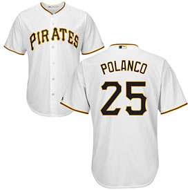 Pittsburgh Pirates Gregory Polanco Youth Home Cool Base Replica Jersey