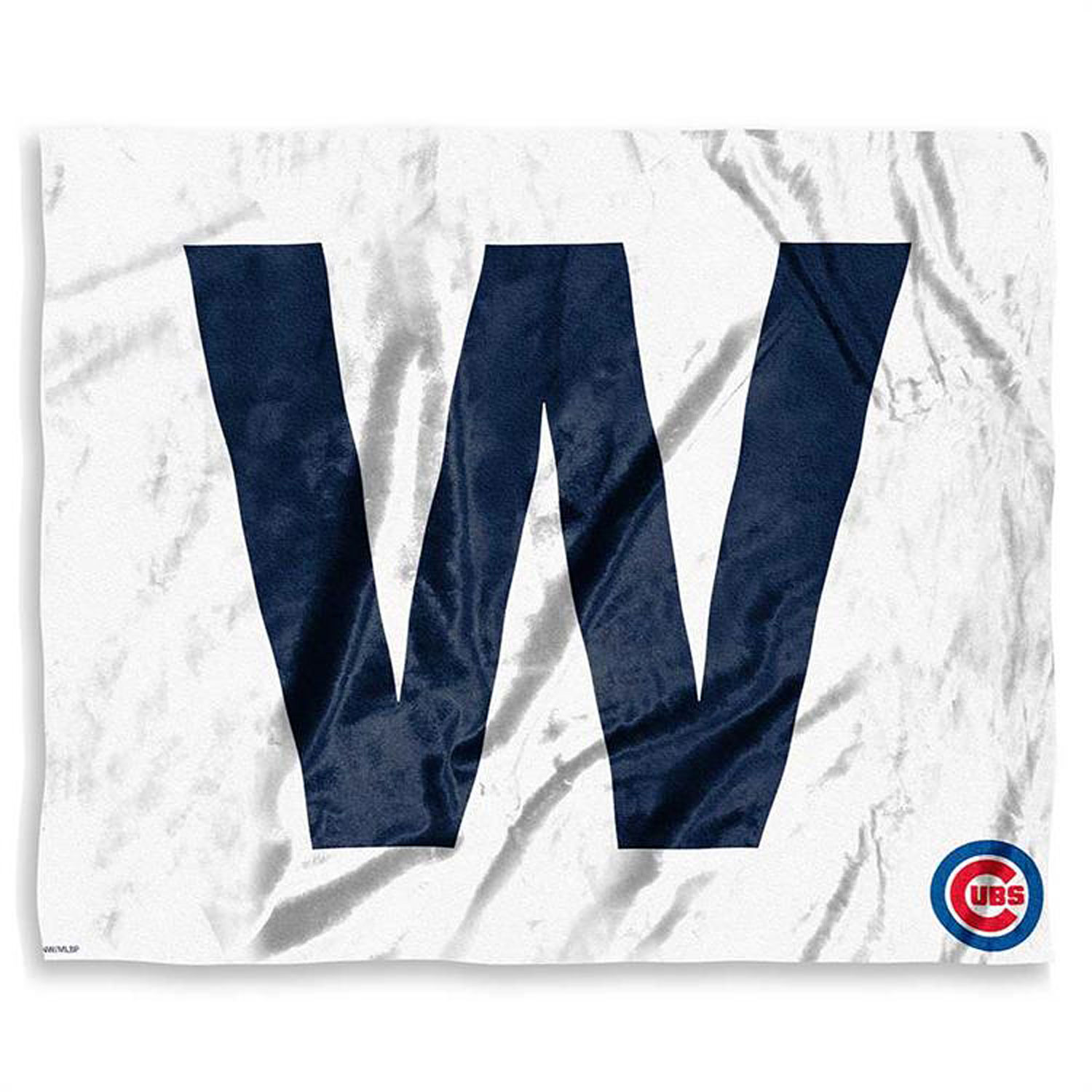 Chicago Cubs W Flag Silk Touch Throw Blanket