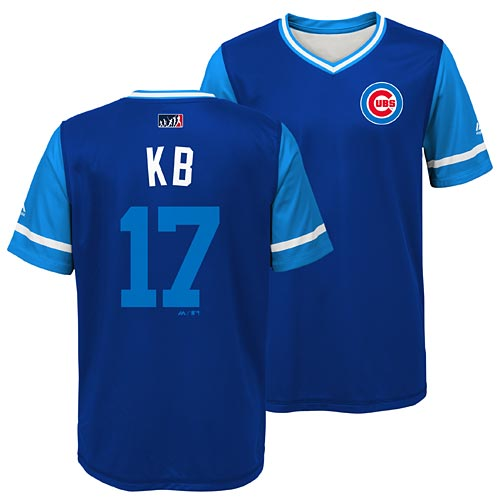 half off 5c2d9 839e9 Chicago Cubs Kris Bryant Youth Players Weekend Sublimated T-Shirt