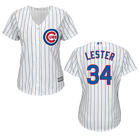 Chicago Cubs Jon Lester Ladies Home Cool Base Replica Jersey