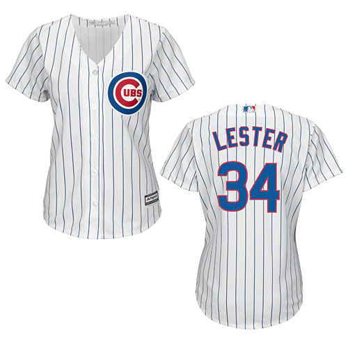 the best attitude 6ea20 ee679 Chicago Cubs Jon Lester Ladies Home Cool Base Replica Jersey