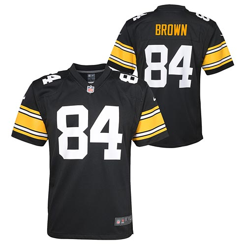 Hot Pittsburgh Steelers Antonio Brown Youth Alt Game Replica Jersey