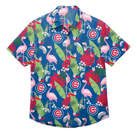 Chicago Cubs Floral Print Button Up Shirt
