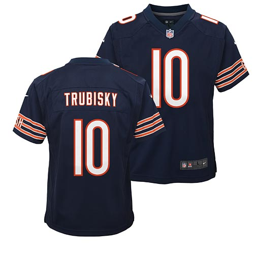 designer fashion 5df2d 254f9 Chicago Bears Mitch Trubisky Youth Nike Game Replica