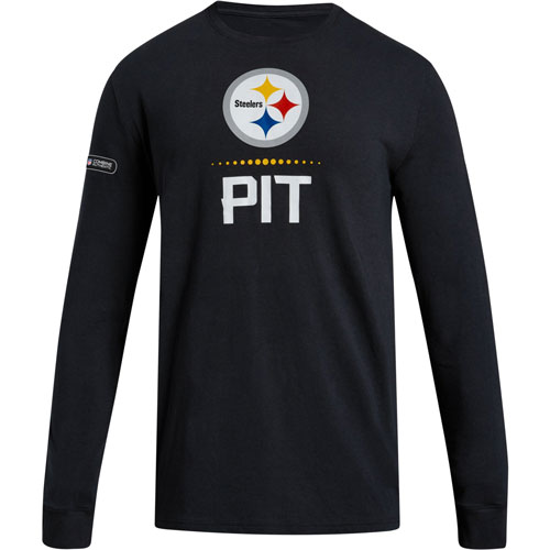 Pittsburgh Steelers Under Armour Combine Authentic Lockup Performance Long  Sleeve T-Shirt – Black 3efcd34f2