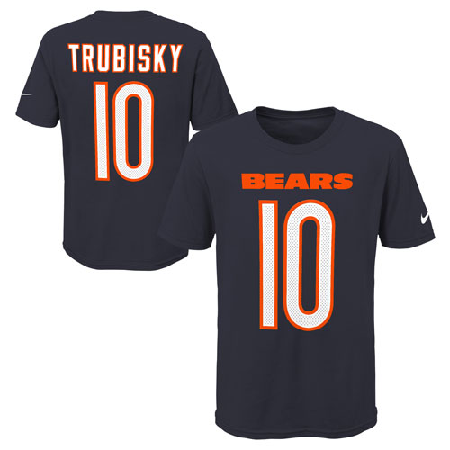 detailed look 7a69b 5b7c3 Mitchell Trubisky Youth Player Name and Number T-shirt