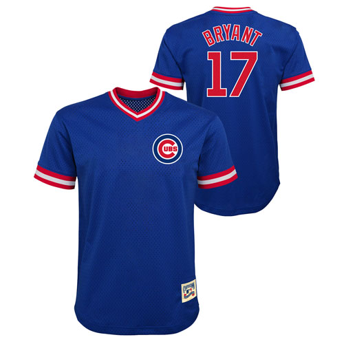 separation shoes dfe5c 82f11 Chicago Cubs Youth Kris Bryant Cooperstown Mesh Replica Jersey