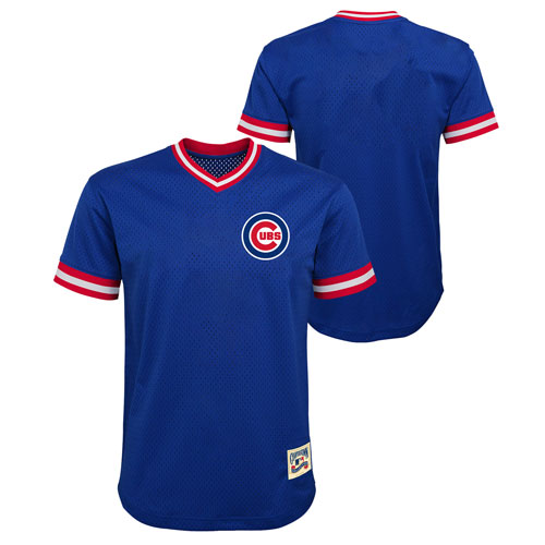 2014bdd2d Chicago Cubs Youth Cooperstown Mesh Replica Jersey