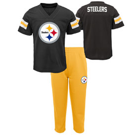 Pittsburgh Steelers Infant Training Camp Pants & T-Shirt Set