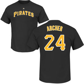 Pittsburgh Pirates Chris Archer Name and Number T-Shirt