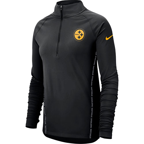 Pittsburgh Steelers Nike Women s Core Half-Zip Pullover Jacket - Black bbca02e59b