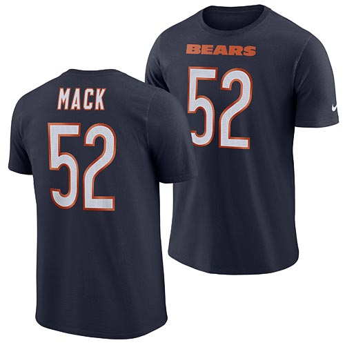 sports shoes bee78 97d47 Chicago Bears Khalil Mack Player Pride Name and Number T-Shirt